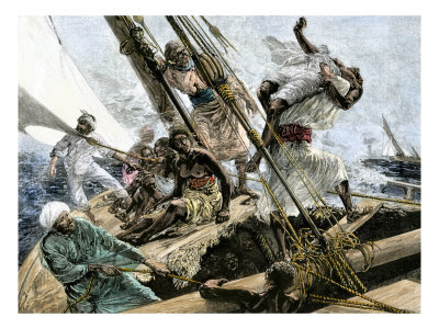 African Slaves Overboard