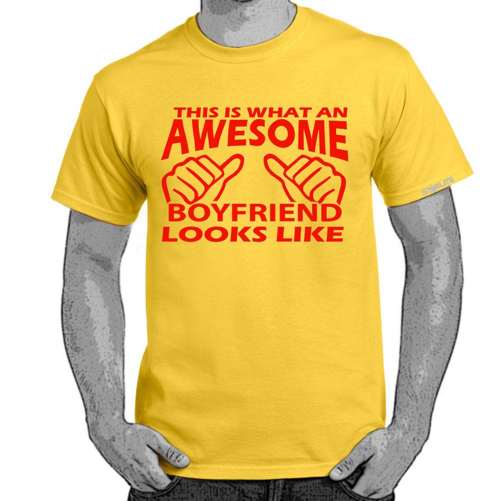 Mens Funny Sayings Slogans T ShirtsAwesome Boyfriend Looks Like tshirt  eBay