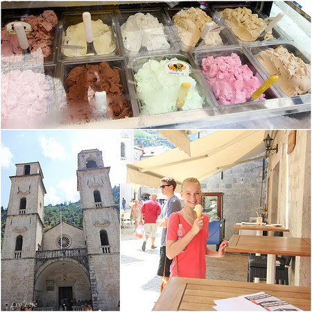 Display of Gelato in Kotor Montenegro