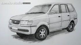 Sketsa Mobil Kijang