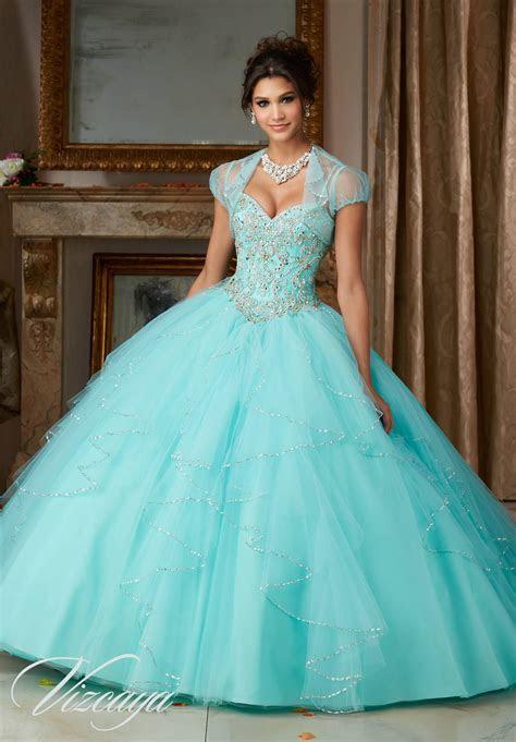 Flounced Tulle Quinceañera Dress   Style 89101   Morilee