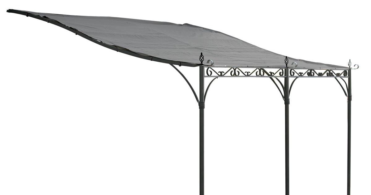 tonnelle de jardin adoss e 4x4 structure en acier toile de 400gr pvc. Black Bedroom Furniture Sets. Home Design Ideas