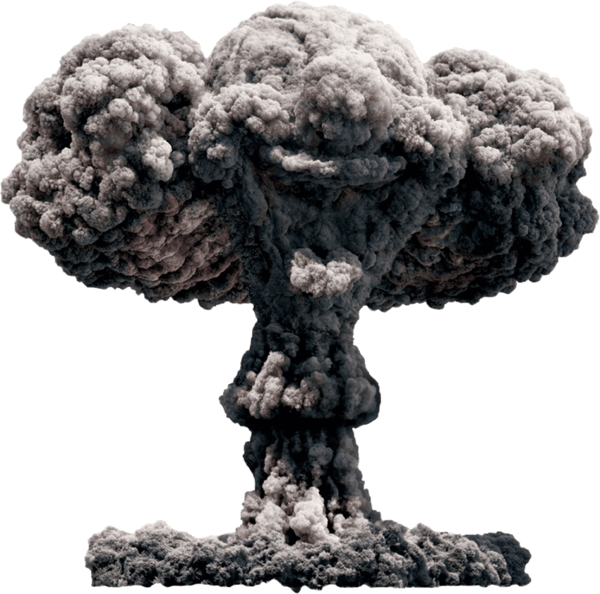 Nuclear explosion PNG images free download