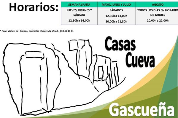 Horarios casas - cueva Gascueña
