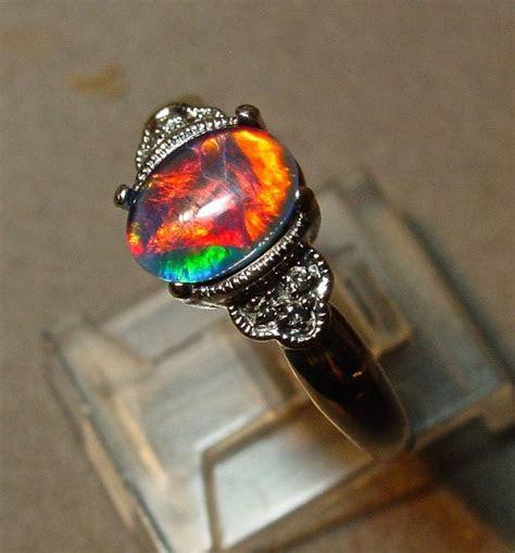 Best 25  Black opal ring ideas on Pinterest   Black opal
