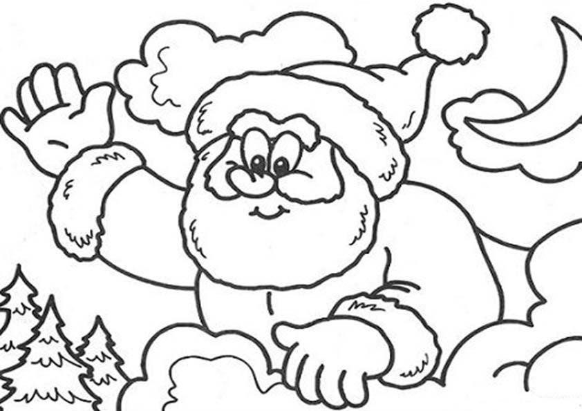 Colorear Dibujos De Navidad Papa Noel Dibujos Para Colorear E