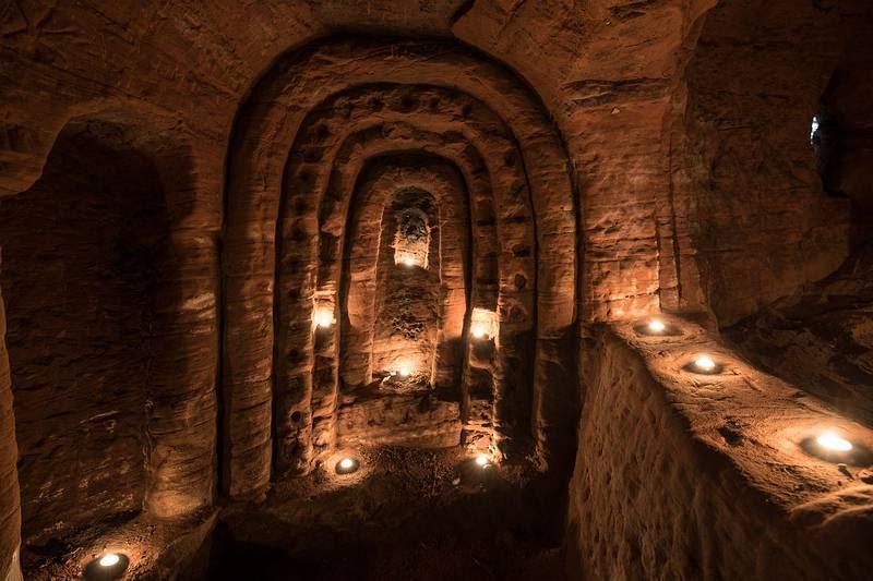 INTERIOR. Vista de uno de los sectores de la cueva que encontró Scott.