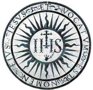The Seal of the Society of Jesus, Jesuits.