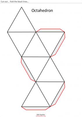 octaedro para recortar