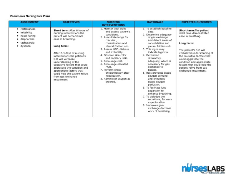 Copd Short Term Goal Care Plan - Hirup l