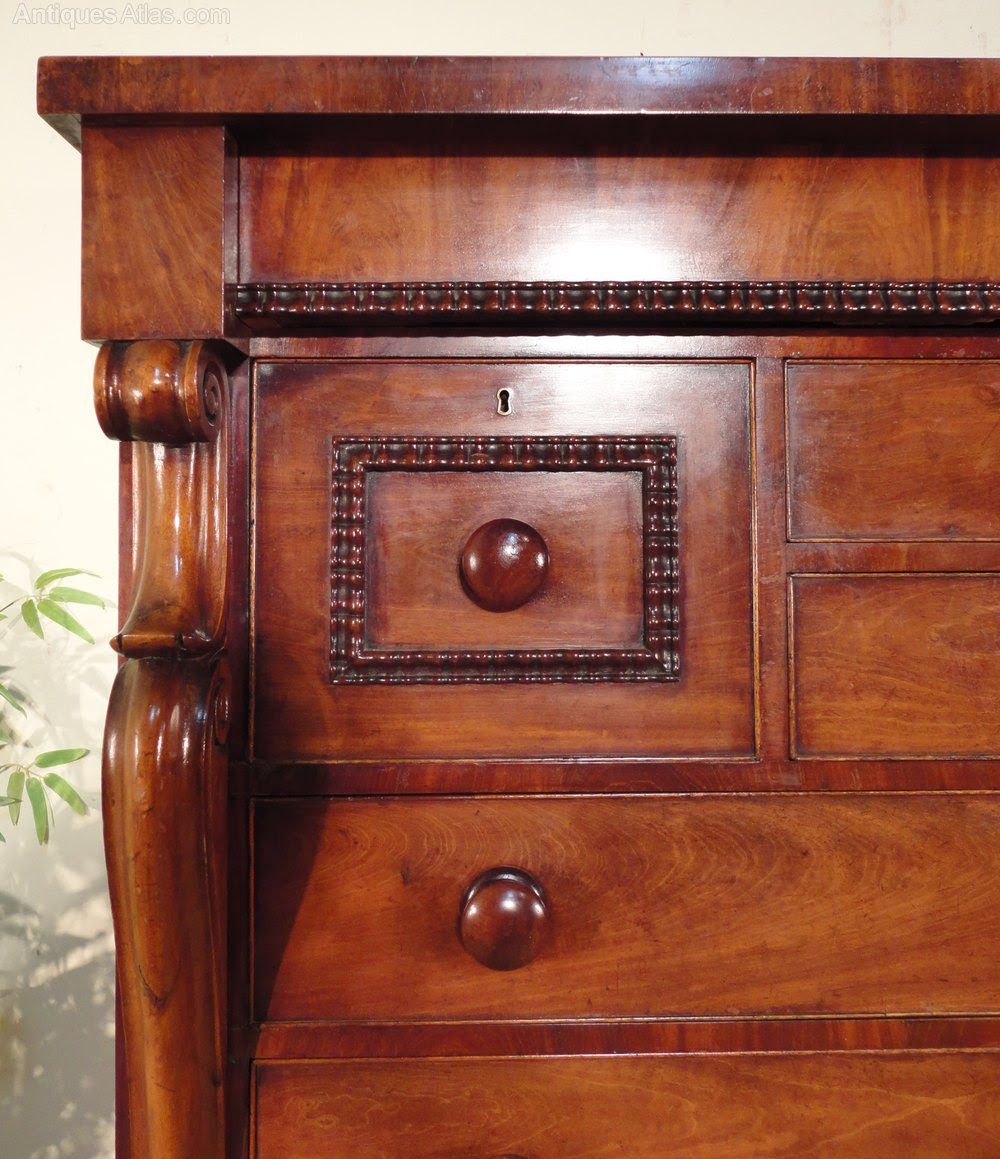Victorian Mahogany Scottish Chest Of Drawers  Antiques Atlas