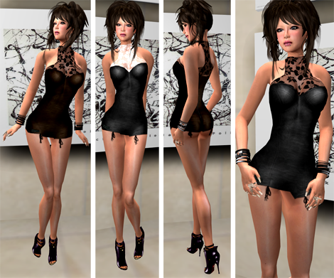New! DeeTaleZ Dresses mini leather