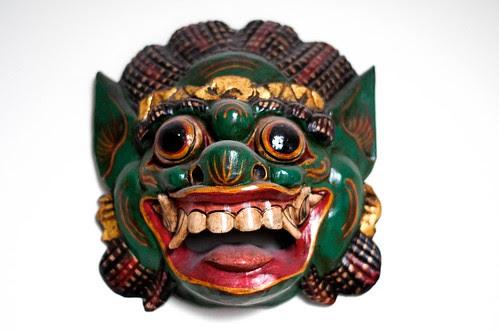 Green Balinese Mask