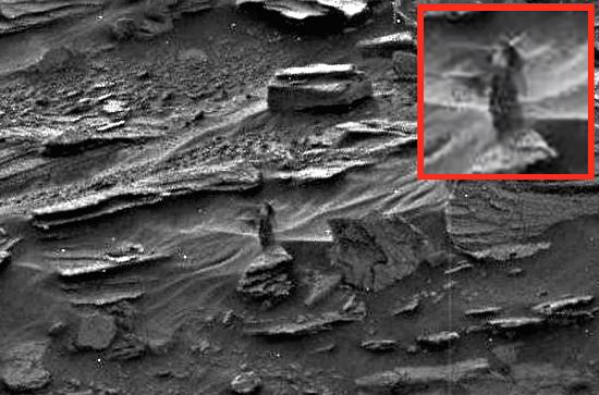 A Sonda da Nasa flagra de mulher em Marte