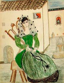 Retrato de Una Dama Sentada española.