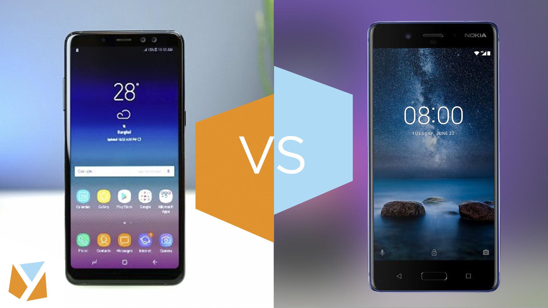 Specs Comparison Samsung Galaxy A8 2018 Vs Nokia 8 Yugatech