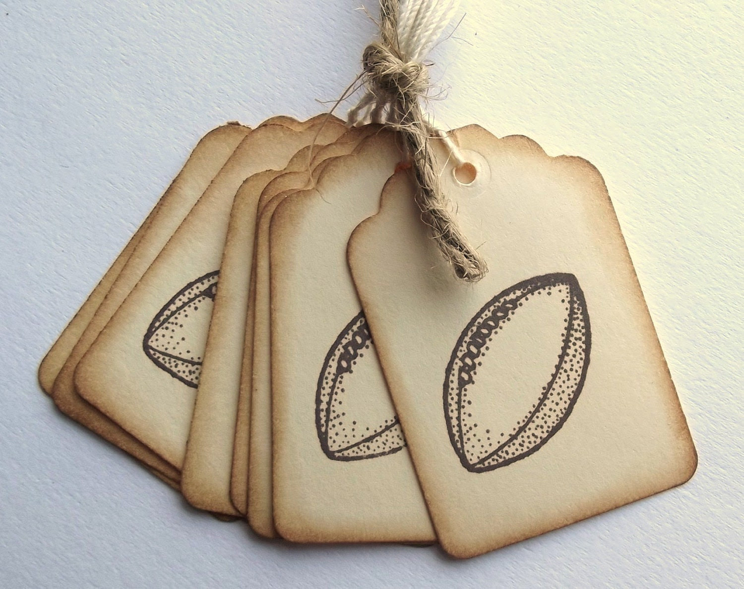 Football Hang Tags - Vintage Inspired