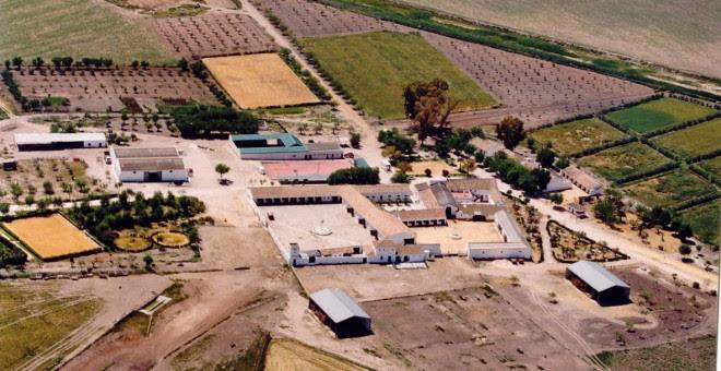 Vista aérea de la finca de 'Las Turquillas', en Écija. Ministerio de Defensa