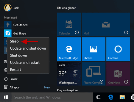 How to Force Your Computer into Sleep Mode with Windows 10 ...