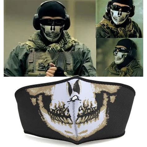 Skull Face Mask Navy Seal Skeleton Cloth Flexible