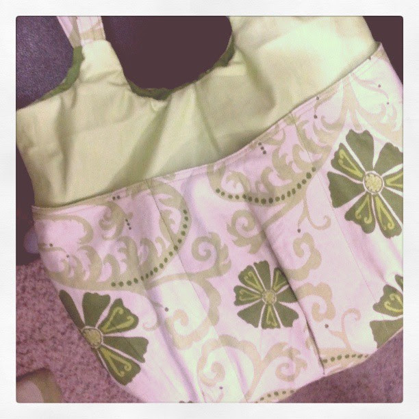 So close...just the topstitching. My very own Go Anywhere Bag <3