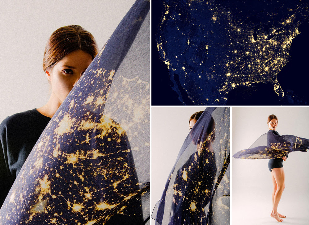 New in the Colossal Shop: Wearable Cities and Stars by Slow Factory stars space fashion colossal clothing