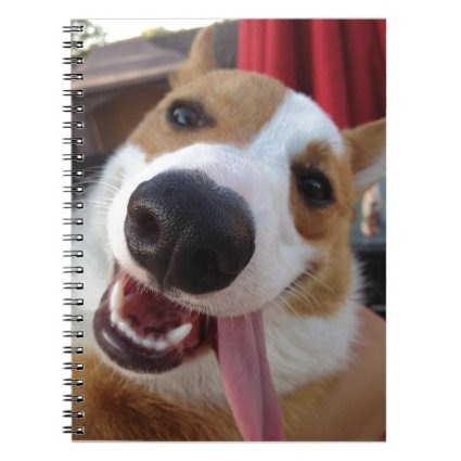 Red and White Pembroke Welsh Corgi Spiral Note Book