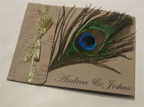 Hand Stamped By Ashley Romo: Peacock Feather Wedding