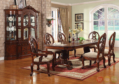 Windham Carved Traditional Formal Dining Room Set Cherry ...