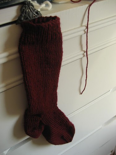 my first knitted sock