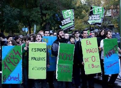 Manifestación estudiantil del 17 de noviembre.