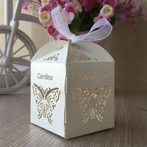 100pcs/set butterfly pearl paper butterfly candy chocolate