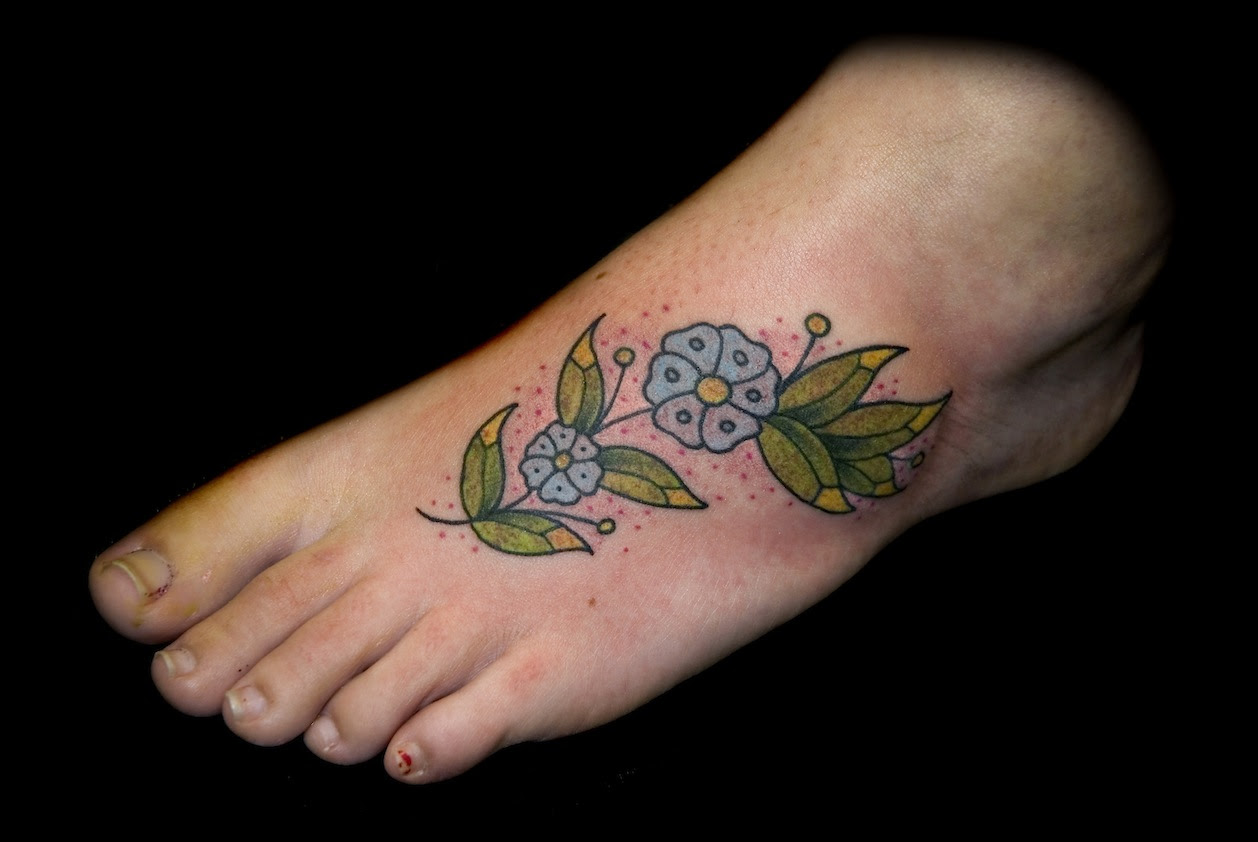 Flower And Vine Tattoos For Foot Tattoos Designs Ideas
