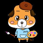 にがおえどっとねっと公式キャラクター『犬太』