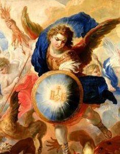 arcángel miguel con escudo