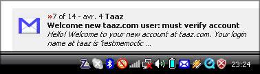 Des notifications Gmail directement sur votre bureau