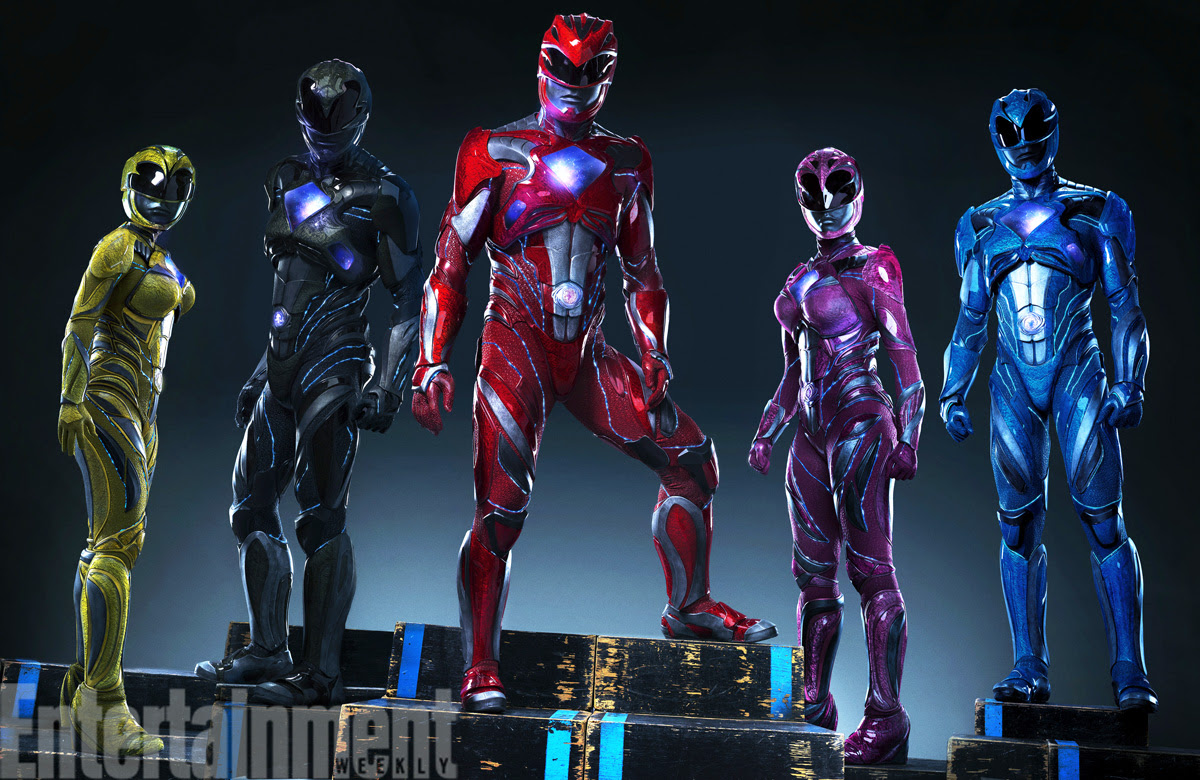 Power Rangers 2017 Movie Ranger Suits Reveal