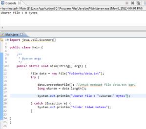 Tutorial Java Netbeans Mysql: Java, Mengetahui Ukuran