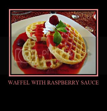 Waffel With Raspberry Sauce