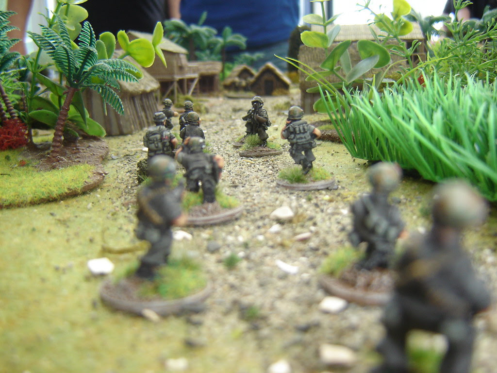 1st Squad advance up Southern Road