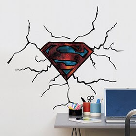 Vinilo infantil SUPERMAN 3D