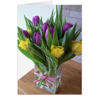 Tulips Bouqet Greeting Card