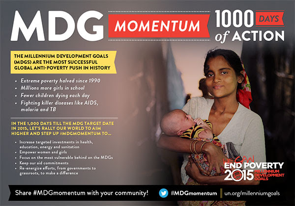 Share #MDGmomentum with your community!