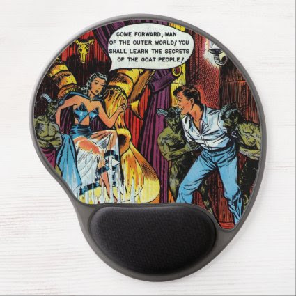 Volcano of Vengeance - Comic Gel Mouse Pad