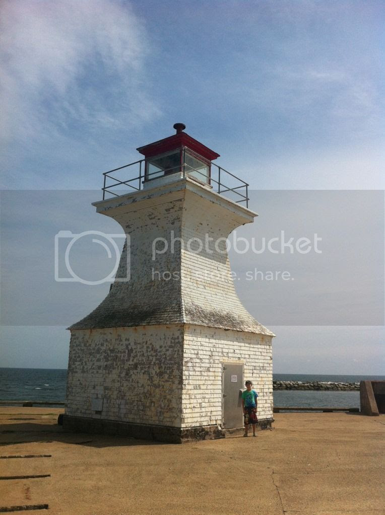 The Lighthouse at Cape Tormentine in New Brunswick, Canada
