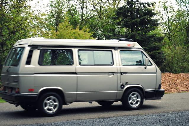 "A very ""Portland"" vehicle in a very ""Portland"" park - Inside Washington Park - Portland, Oregon"