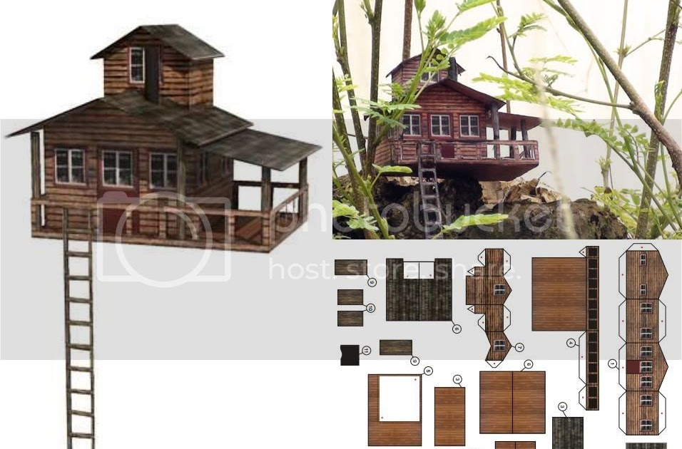 PAPERMAU: Tree House Paper Model In 1/100 Scale - by Paper ...