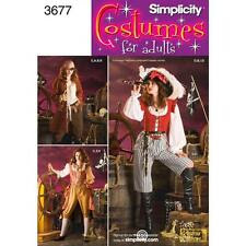 SIMPLICITY SEWING PATTERN Misses Pirate Costumes  SIZE 6 - 20 3677