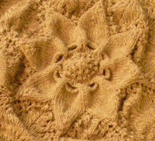 Hemlock Ring Lap Blanket center