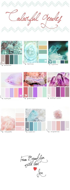 colorful rocks #geodes #colors #design